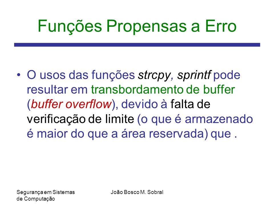 Funções Propensas a Erro