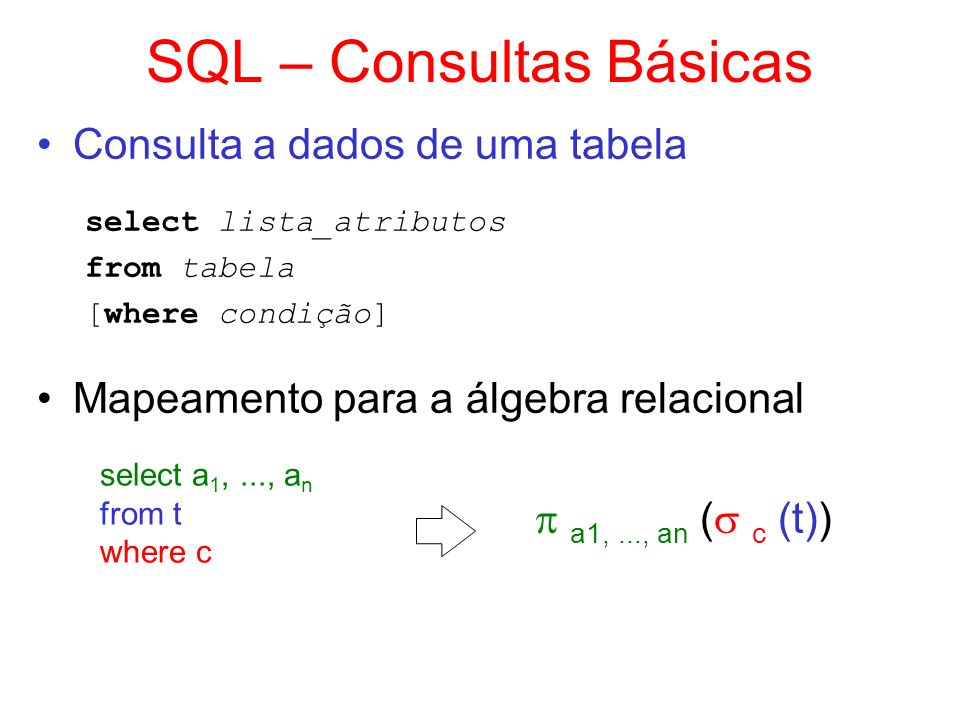 SQL – Consultas Básicas