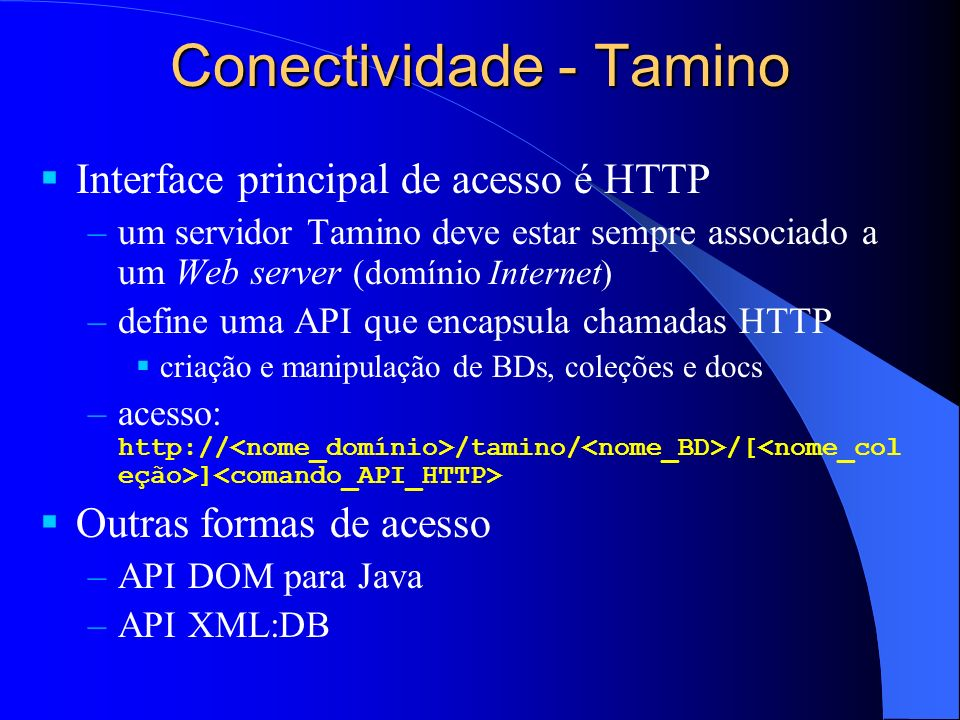 Conectividade - Tamino