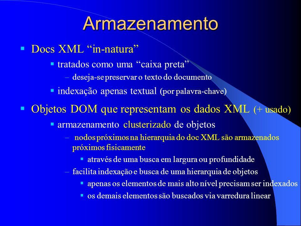 Armazenamento Docs XML in-natura