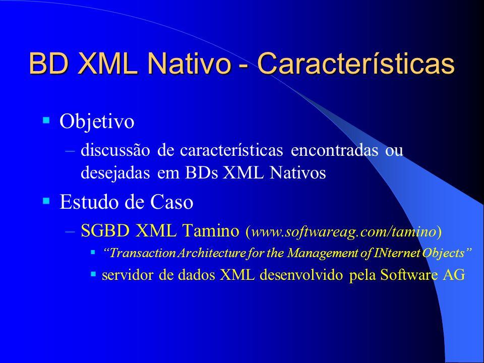 BD XML Nativo - Características