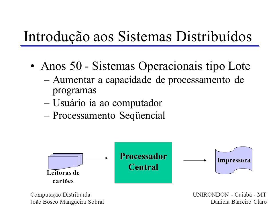 Introdução aos Sistemas Distribuídos