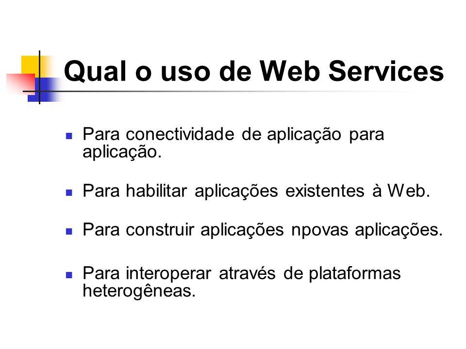 Qual o uso de Web Services