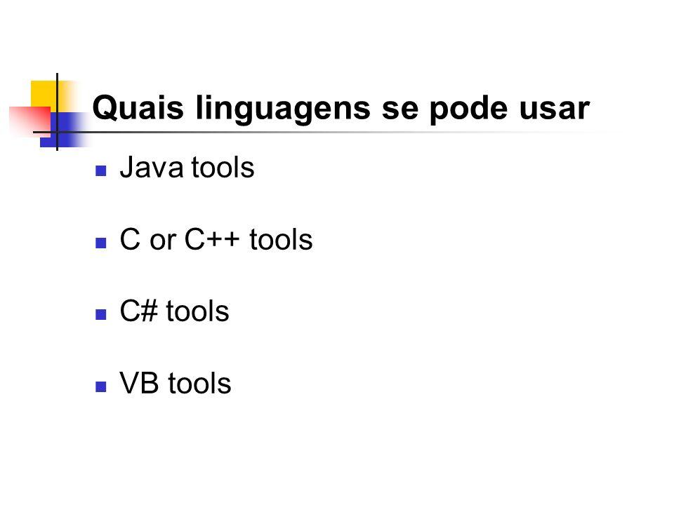 Quais linguagens se pode usar