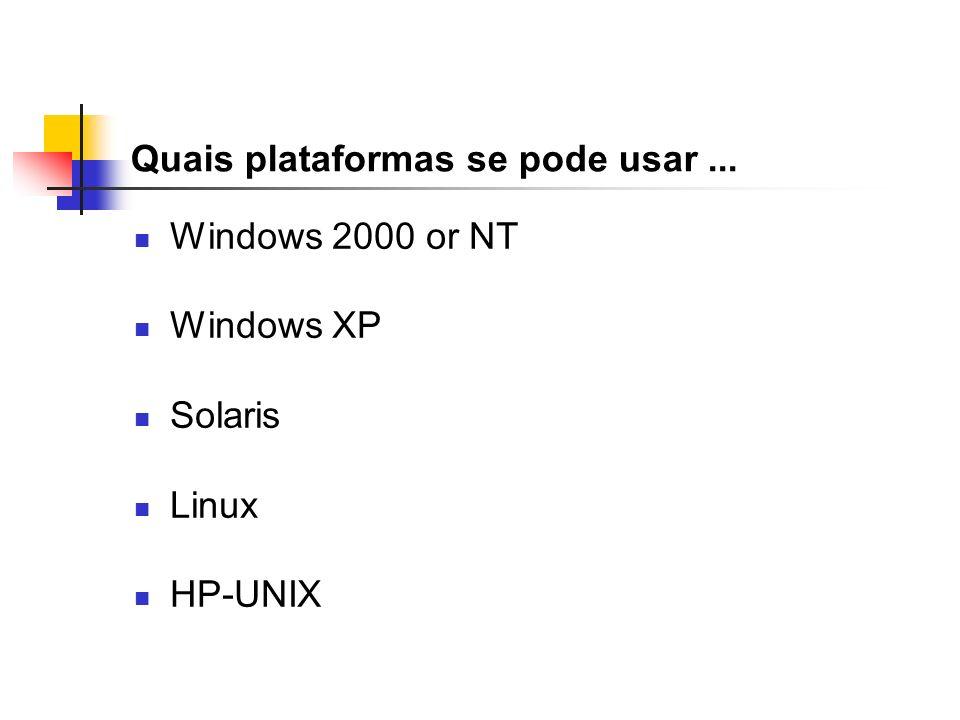 Quais plataformas se pode usar ...