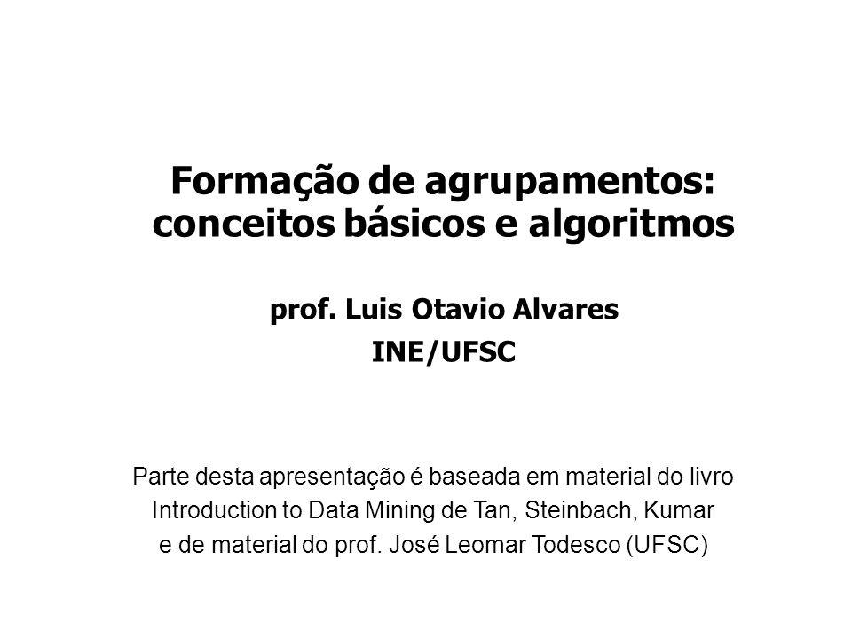 Formação de agrupamentos: conceitos básicos e algoritmos prof