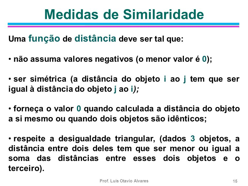 Medidas de Similaridade
