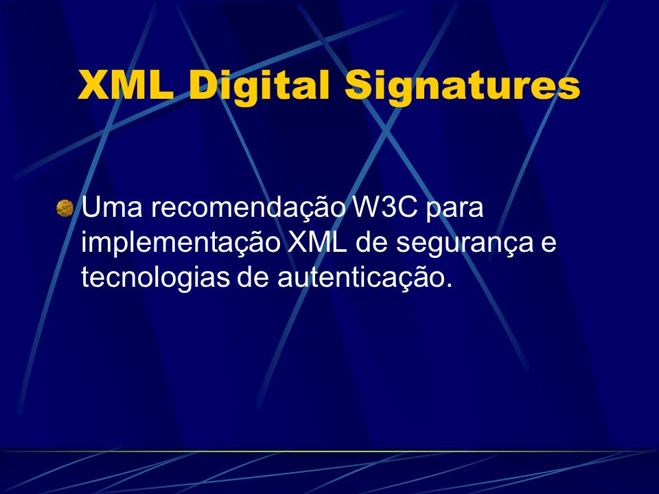 XML Digital Signatures