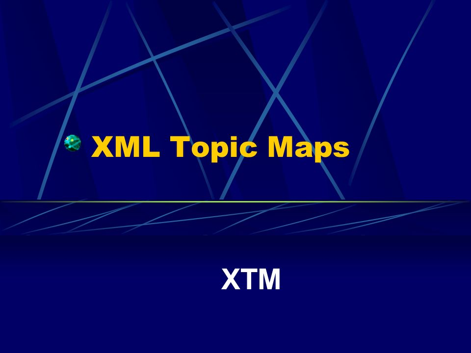 XML Topic Maps XTM