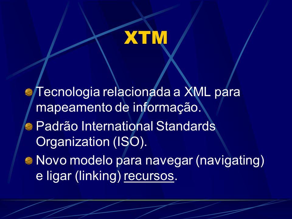 XTM Tecnologia relacionada a XML para mapeamento de informação.