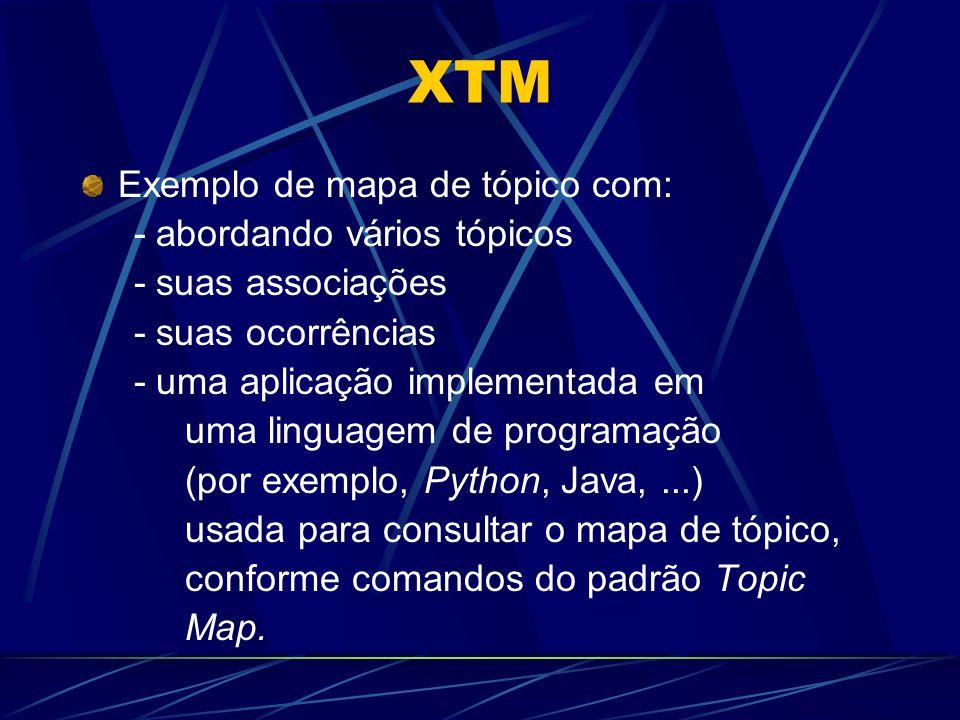XTM Exemplo de mapa de tópico com: - abordando vários tópicos