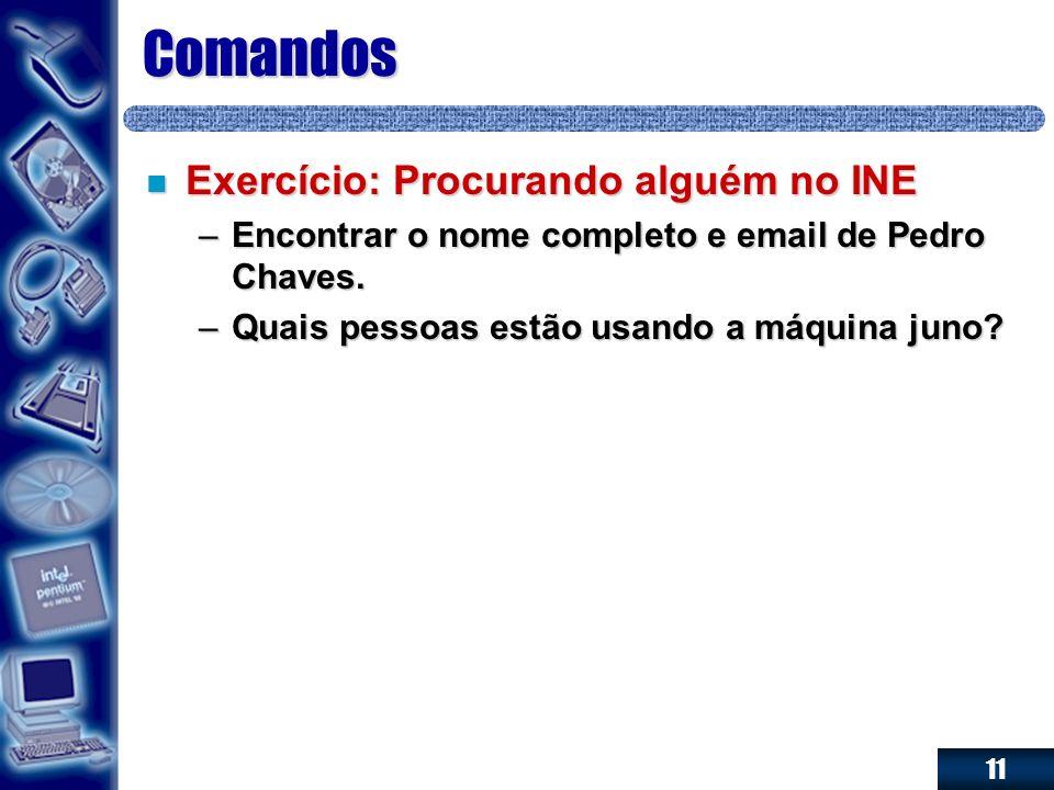 Comandos Exercício: Procurando alguém no INE