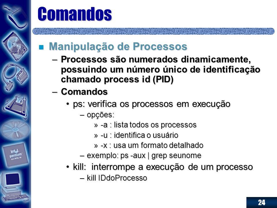 Comandos Manipulação de Processos