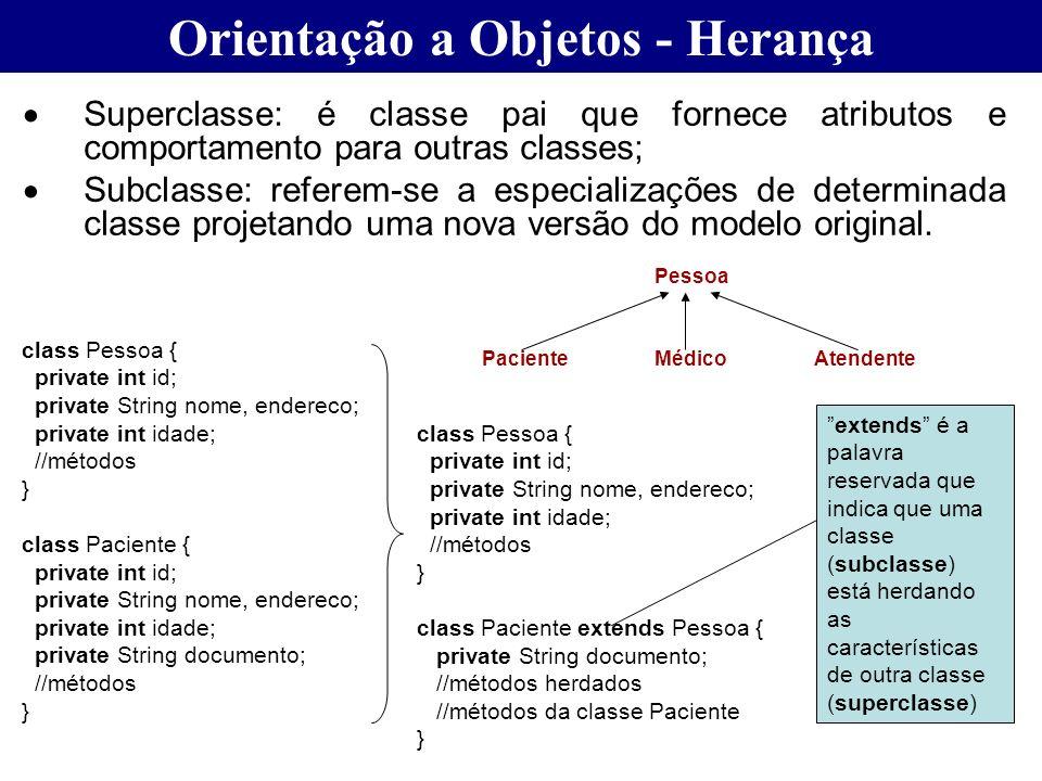 Orientação a Objetos - Herança