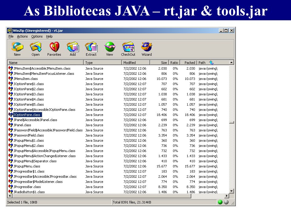 As Bibliotecas JAVA – rt.jar & tools.jar