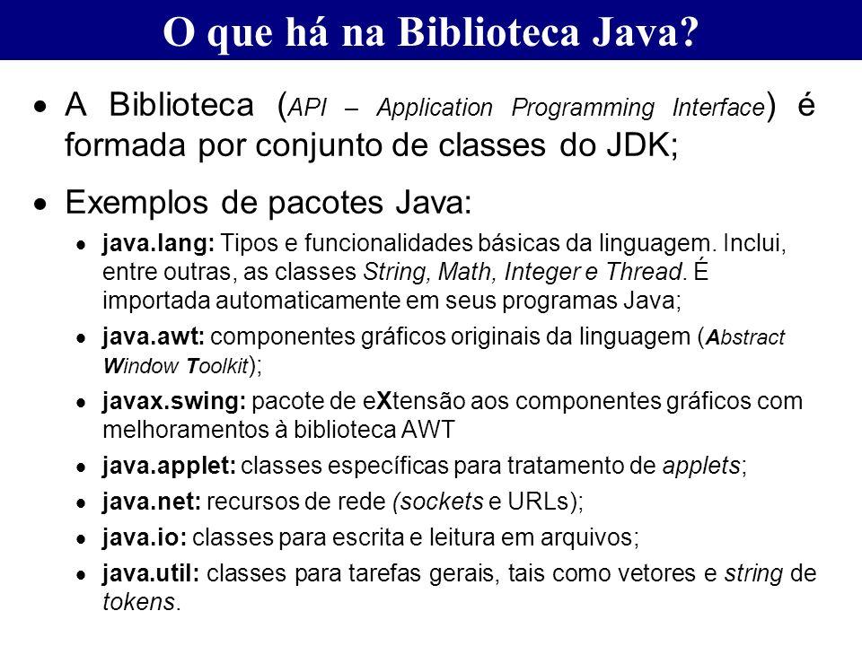 O que há na Biblioteca Java
