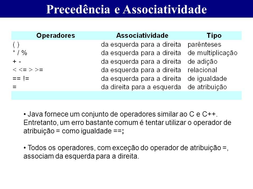 Precedência e Associatividade