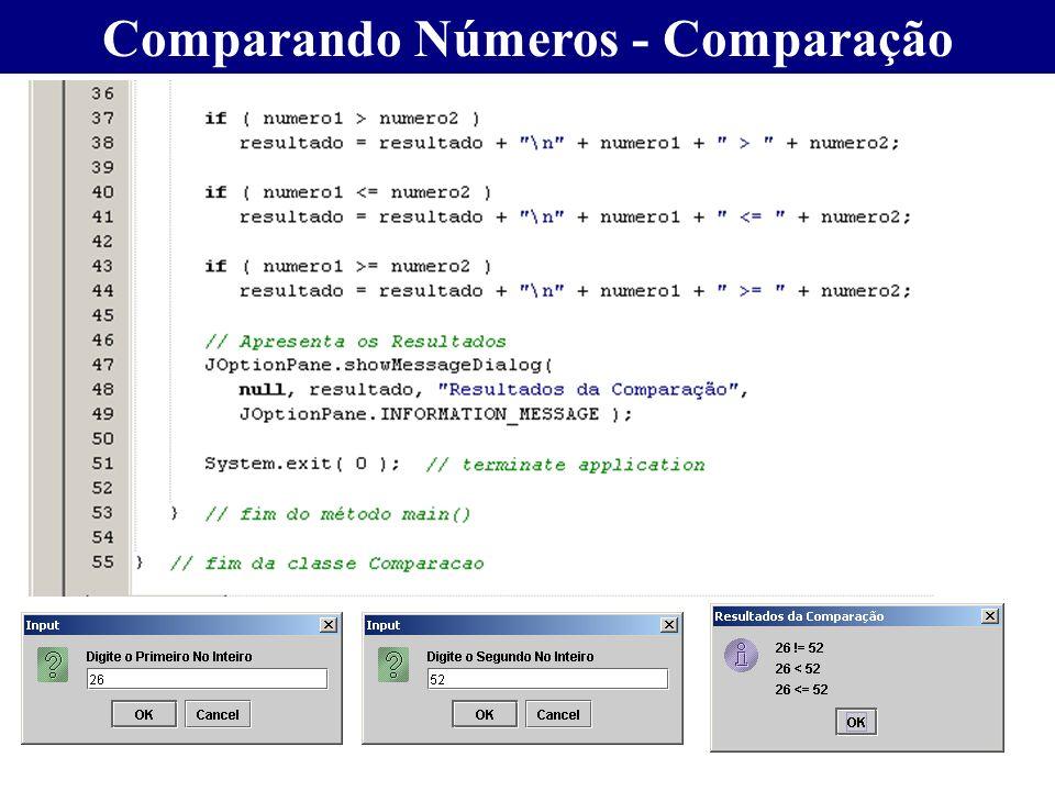 Comparando Números - Comparação