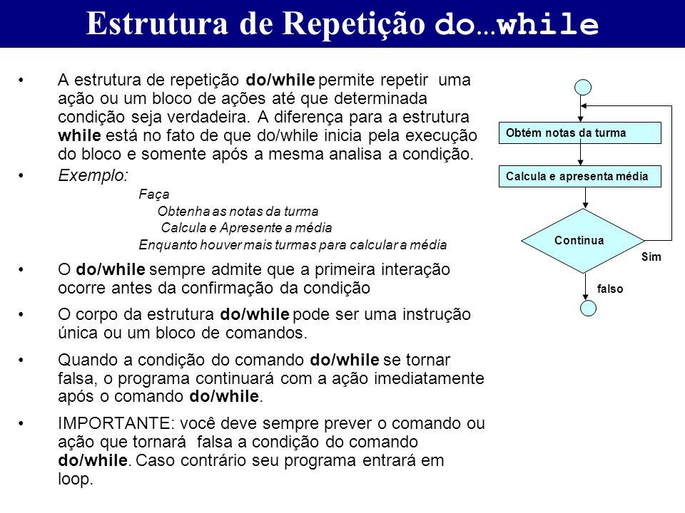 Estrutura de Repetição do…while