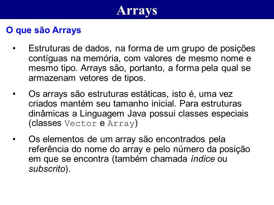 Arrays O que são Arrays.