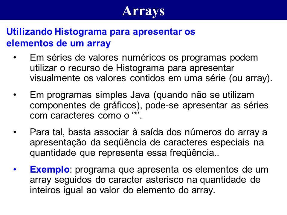Arrays Utilizando Histograma para apresentar os elementos de um array