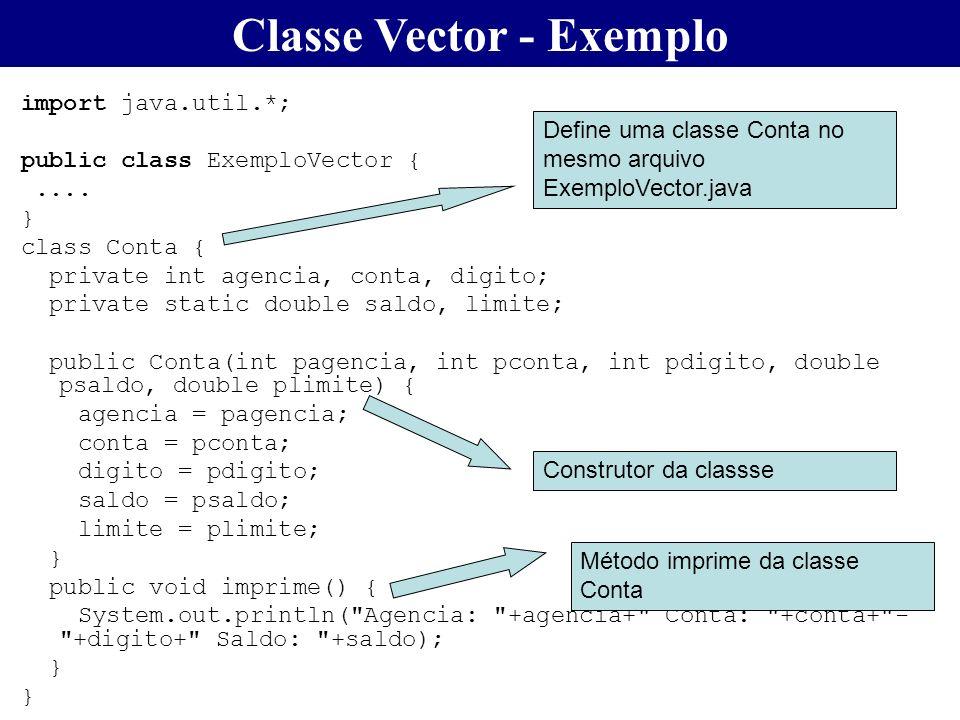 Classe Vector - Exemplo