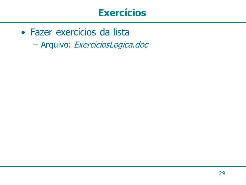 Fazer exercícios da lista