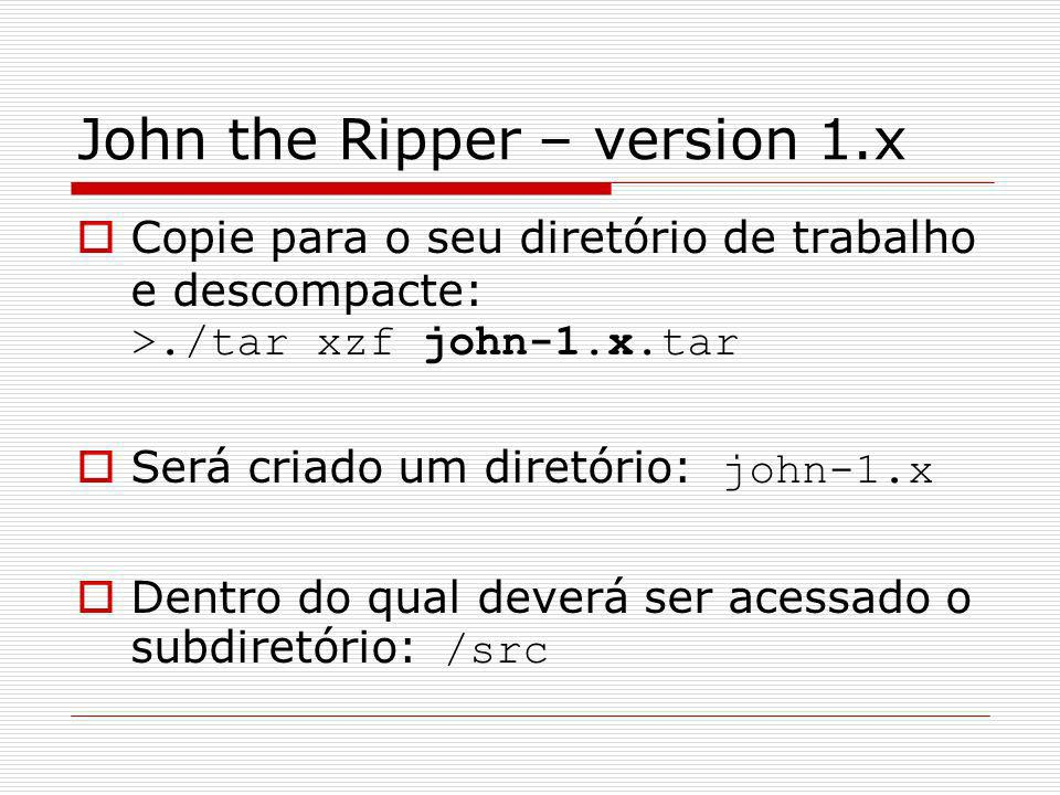 John the Ripper – version 1.x
