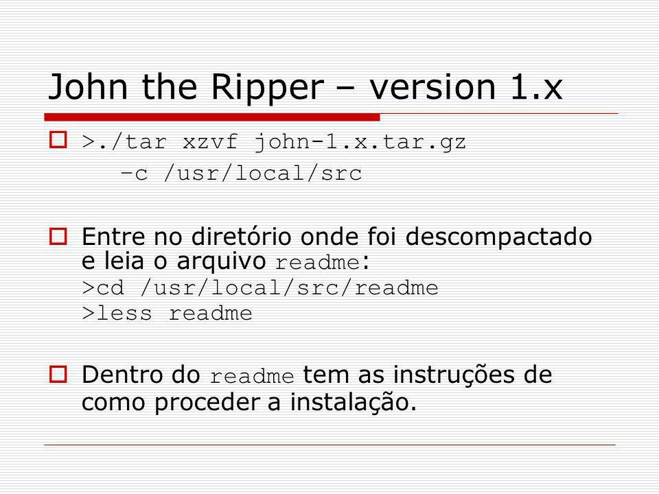 John the Ripper – version 1.x