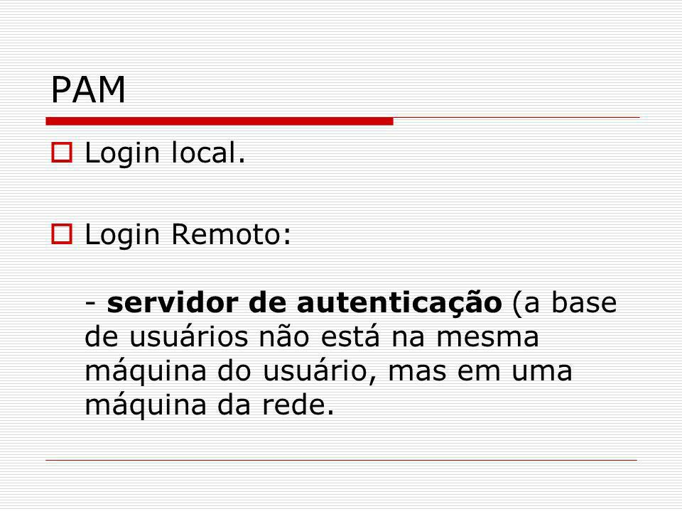PAM Login local.