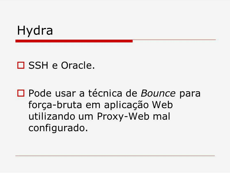 Hydra SSH e Oracle.