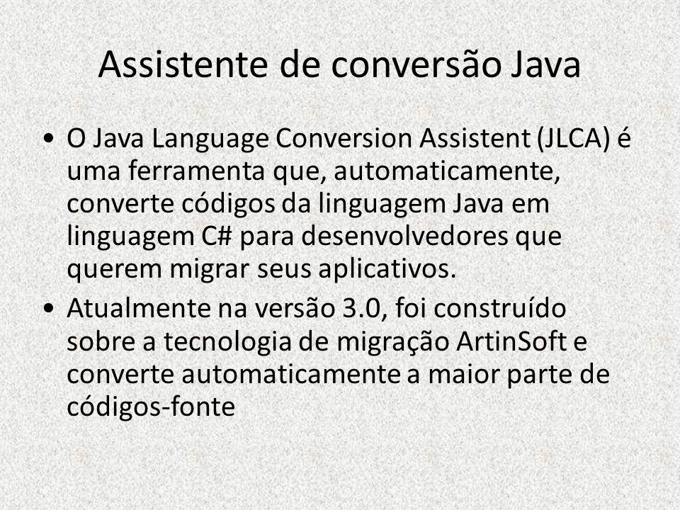 Assistente de conversão Java