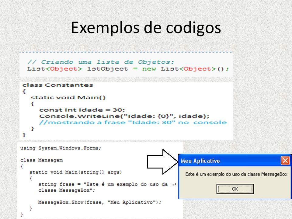 Exemplos de codigos