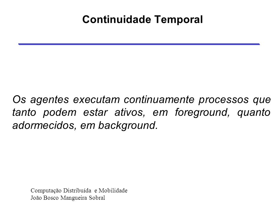 Continuidade Temporal