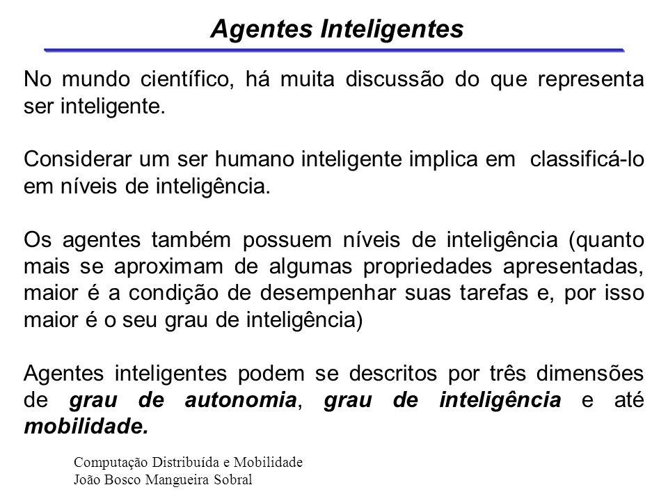 Agentes Inteligentes No mundo científico, há muita discussão do que representa ser inteligente.