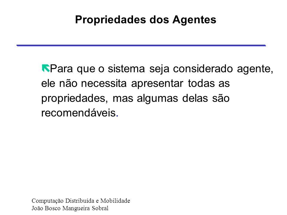 Propriedades dos Agentes