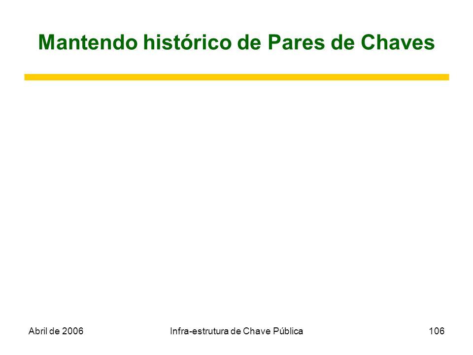 Mantendo histórico de Pares de Chaves