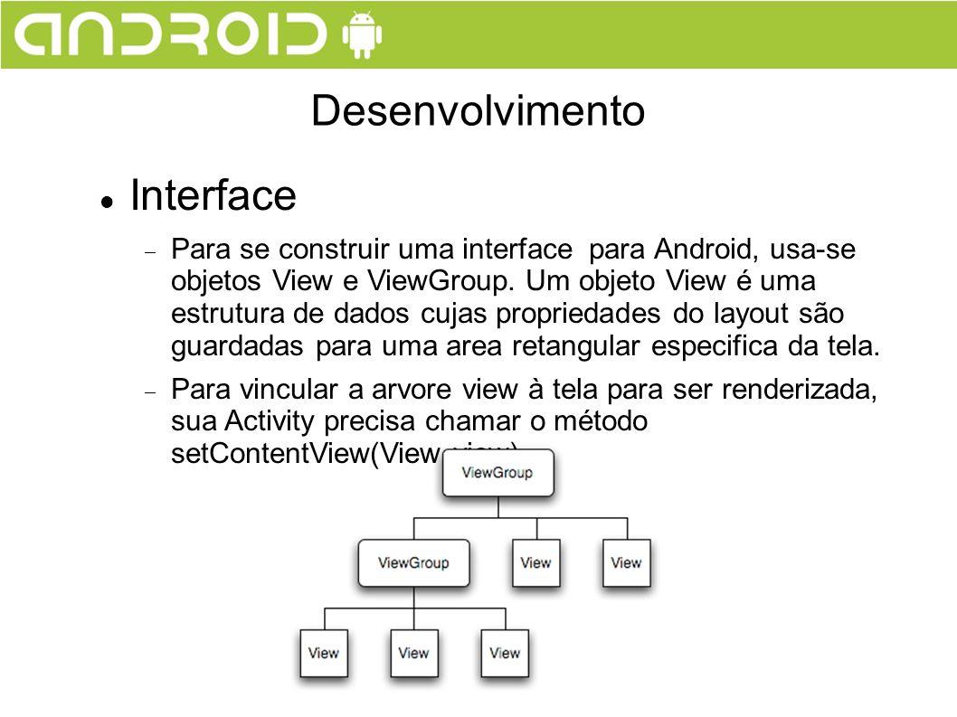 Desenvolvimento Interface