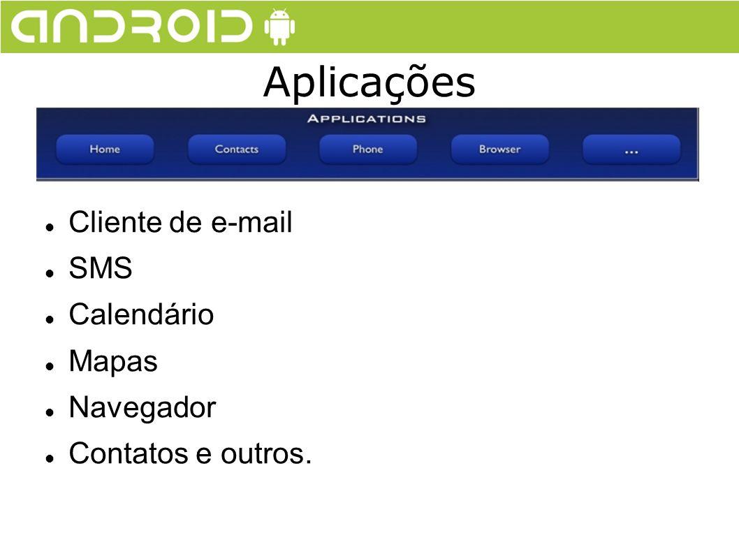Aplicações Cliente de e-mail SMS Calendário Mapas Navegador
