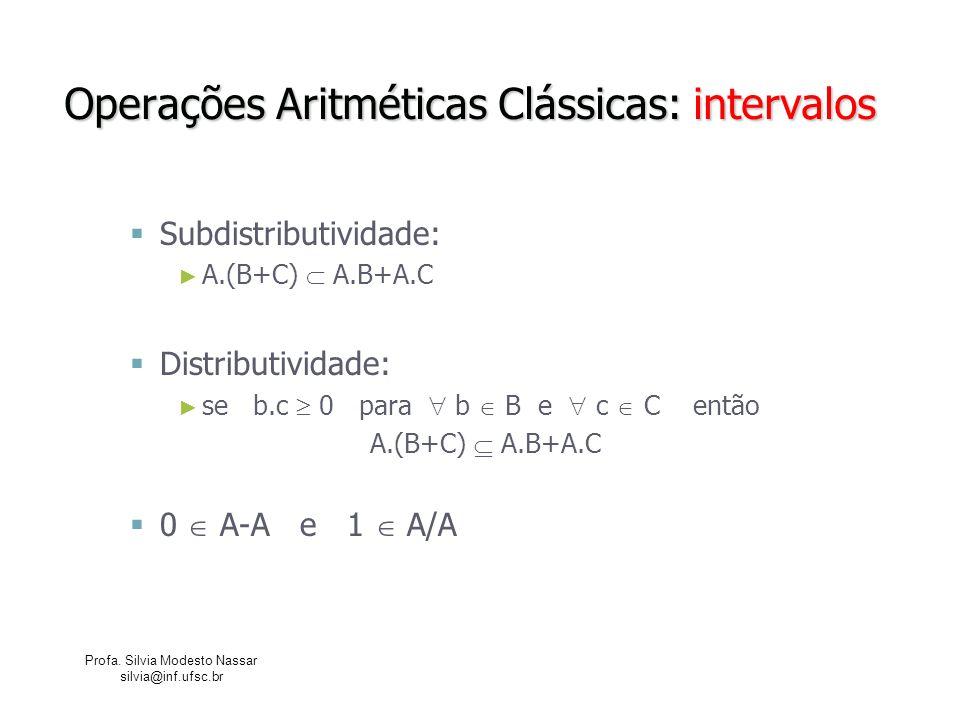 Operações Aritméticas Clássicas: intervalos