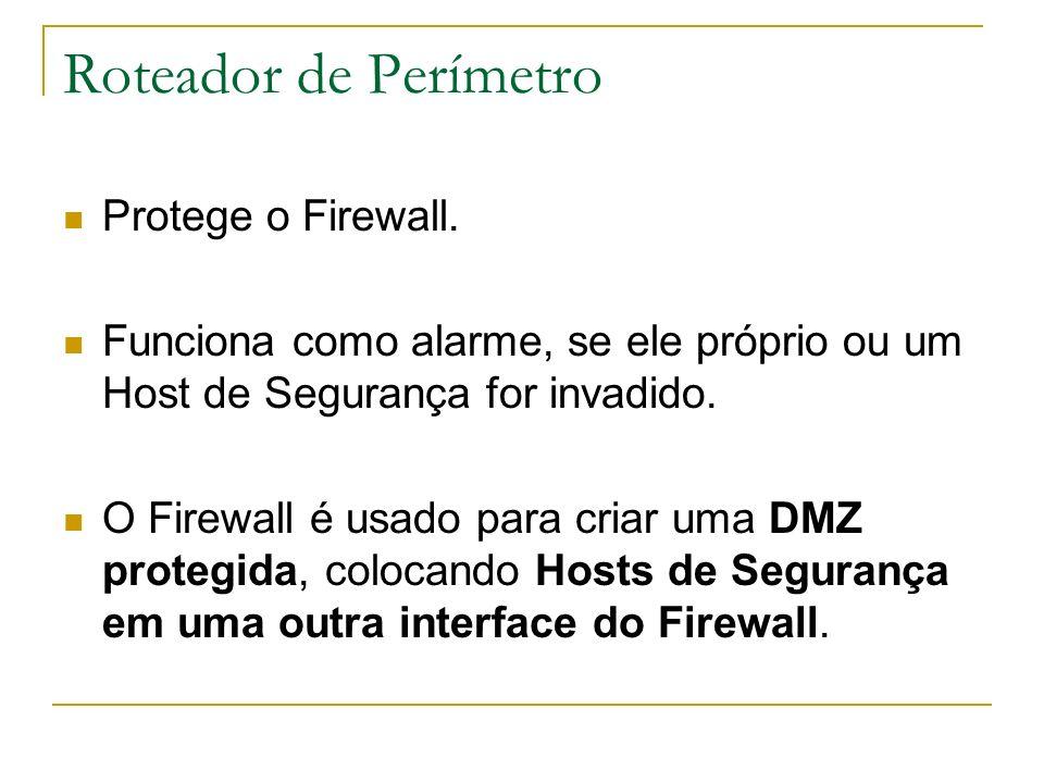 Roteador de Perímetro Protege o Firewall.