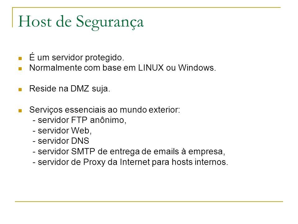 Host de Segurança É um servidor protegido.