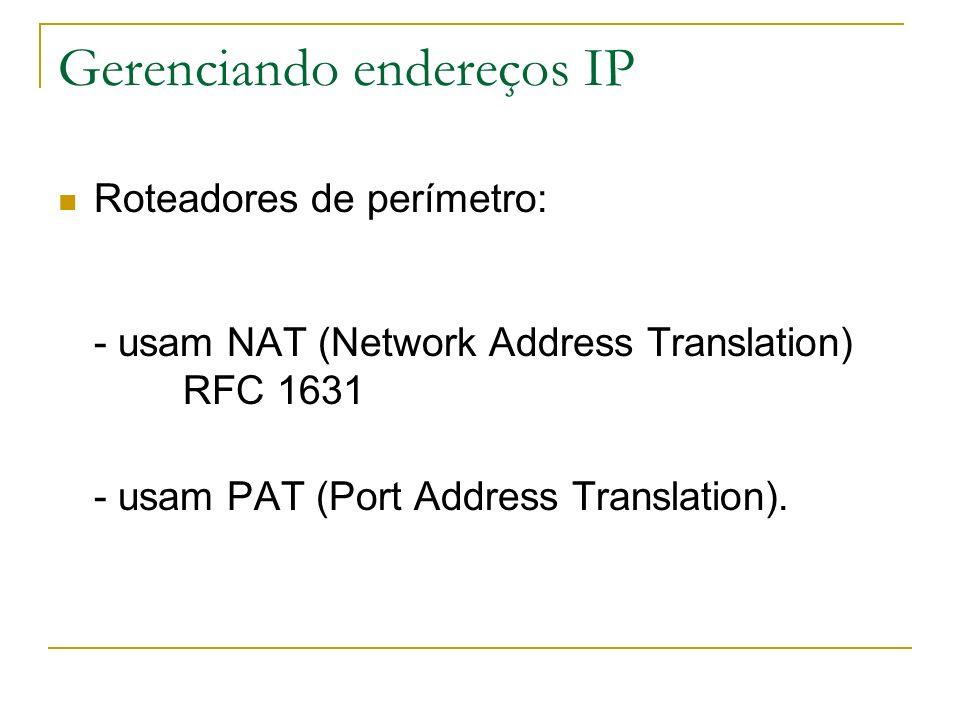 Gerenciando endereços IP