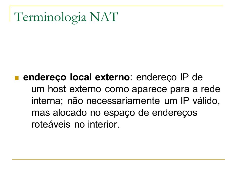 Terminologia NAT