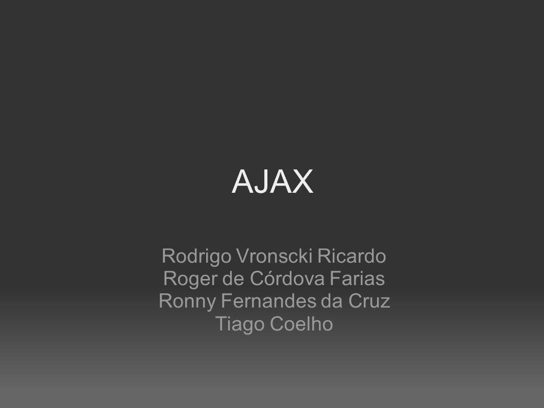 AJAX Rodrigo Vronscki Ricardo Roger de Córdova Farias