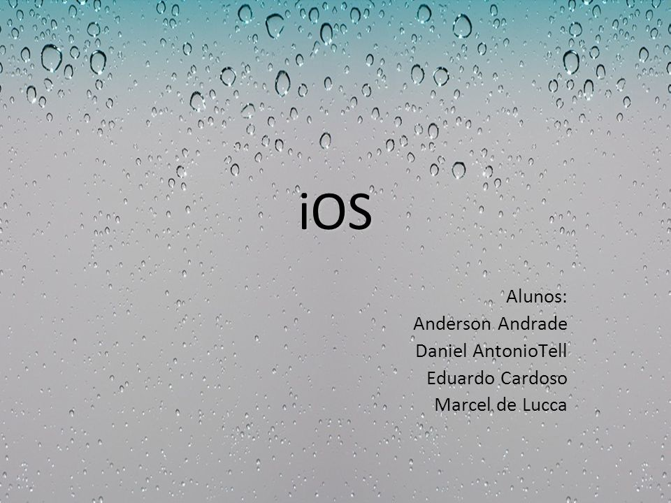 iOS Alunos: Anderson Andrade Daniel AntonioTell Eduardo Cardoso