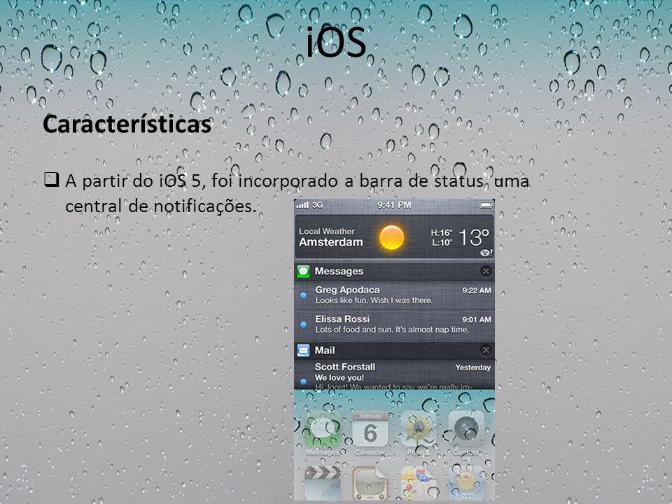 iOS Características.