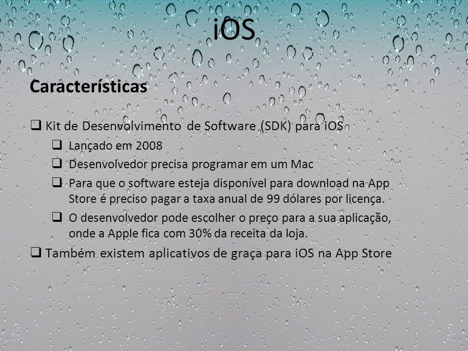 iOS Características Kit de Desenvolvimento de Software (SDK) para iOS