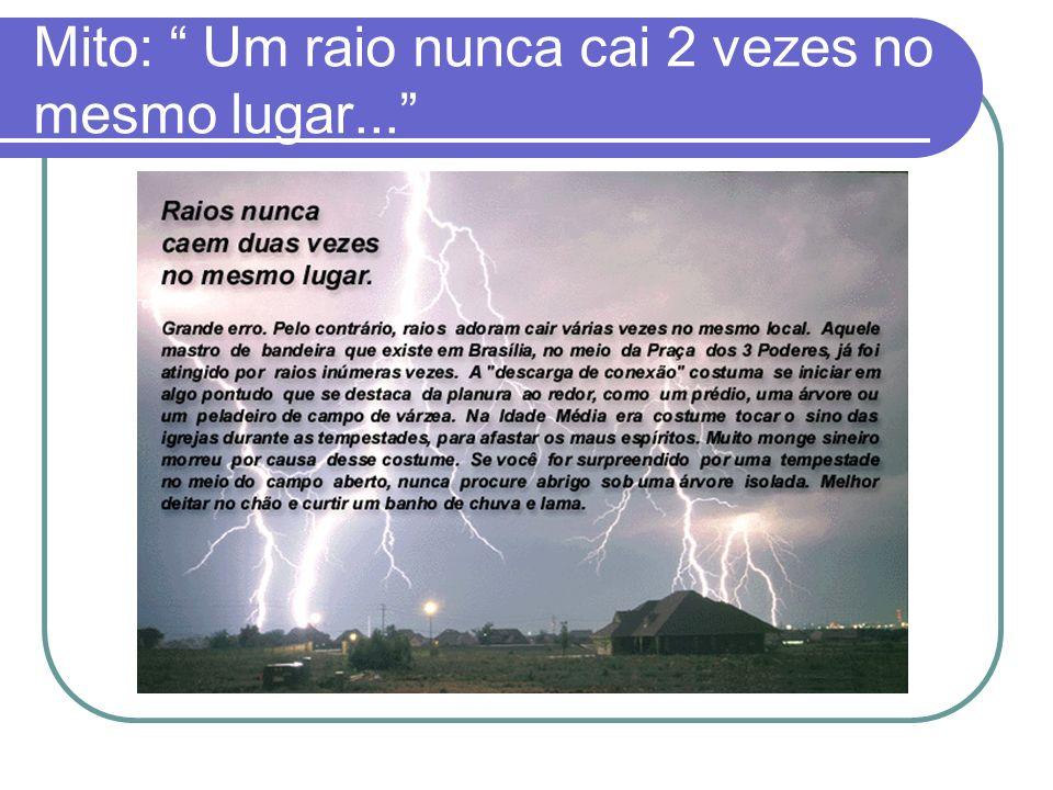 Mito: Um raio nunca cai 2 vezes no mesmo lugar...