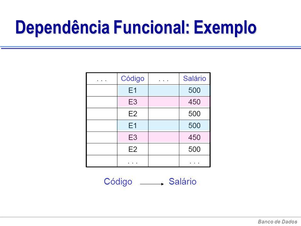 Dependência Funcional: Exemplo